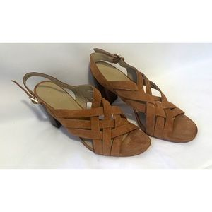 Ann Taylor size 11 criss cross leather heels